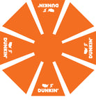 7.5' Dunkin Umbrella - Orange Top