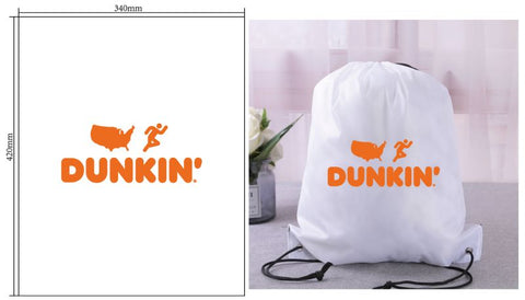 Dunkin Drawstring Bag White