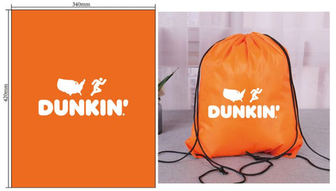 Copy of Dunkin Drawstring Bag - Orange