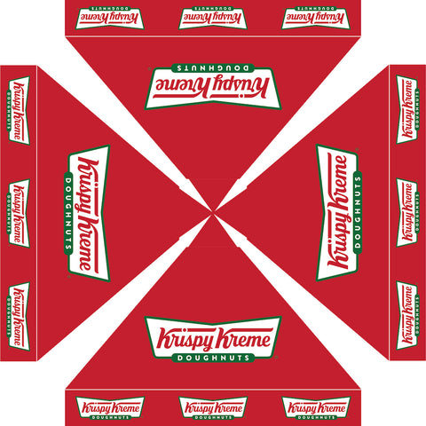 Krispy Kreme doughnuts rendition RED