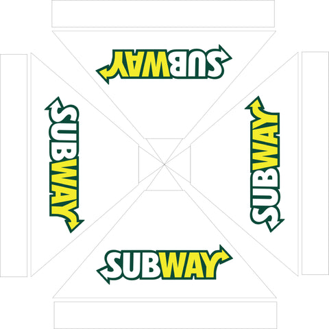 Subway 10 x 10 Logo Tent White