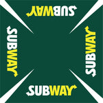 Subway 6' Sq' Green Logo Umbrella w/ 900 Denier Top