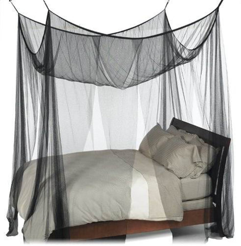 Nicamaka Casablanca - 4-Point BLACK Decor Bed Canopy