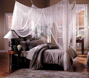 "Mombasa® ""Majesty""  • Four-Point Bed Canopy / Mosquito Net"
