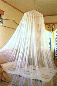 """Ready Net"" Functional Bed Canopy/Mosquito Net"