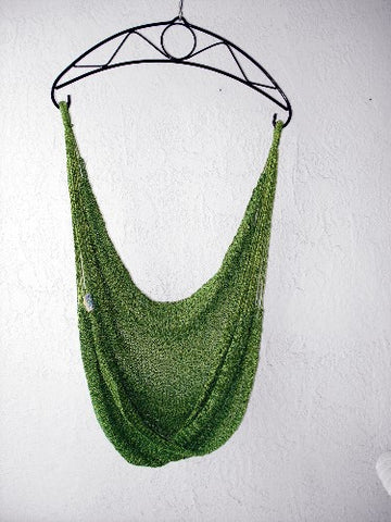 Hammock Chair Granada-34 - Sprang-Woven Seat - PALM GREEN