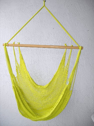 """Mombacho Chair"" - YELLOW Sprang-Woven Seat - Hammock Chair"