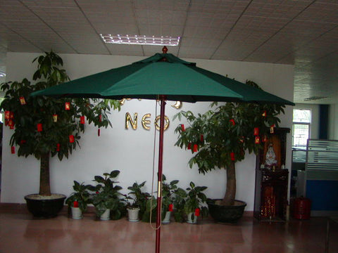 Neo 7.5' Asian Hardwood Market Umbrella