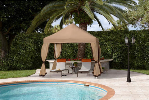 Fiberbuilt 10 x 10 Deluxe Pop Up Gazebo Event Tent w/ Sunbrella Top