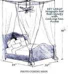 Nicamaka Key Largo Bed Canopy with Ceiling Fan Access - Fits King Sized Beds
