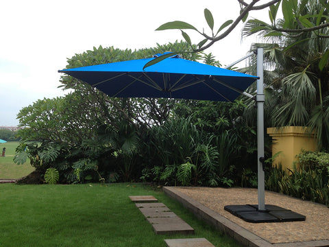 South Beach 10' x 10' Cantilever Umbrella - By Miami Umbrellas