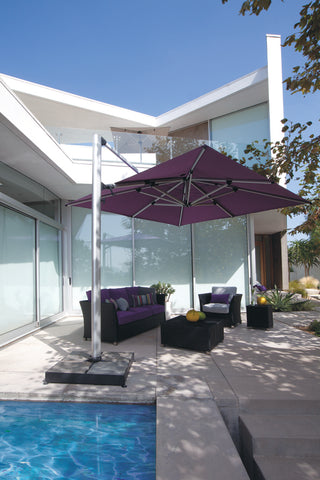 "Shademaker 13'1"" Polaris  Square Cantilever Umbrella"