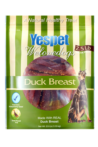 YESPET Duck Breast Jerky Dog Treats 2.5lb