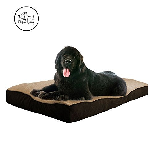 Floppy Dawg Extra Large Dog Bed with Removable Cover and Waterproof Liner | Stuffed To 8 Inches High with Memory Foam Pieces To Accommodate the Natura
