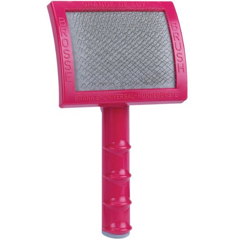 Oscar Frank Grand de Luxery Premium Plastic Handle Pet Slicker Brush, Large, Pink