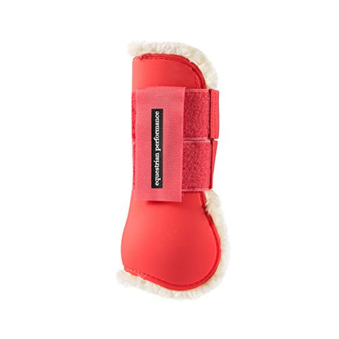 Horze Quintus Fleece Comfort Tendon Boots with Soft Faux Fur Layer