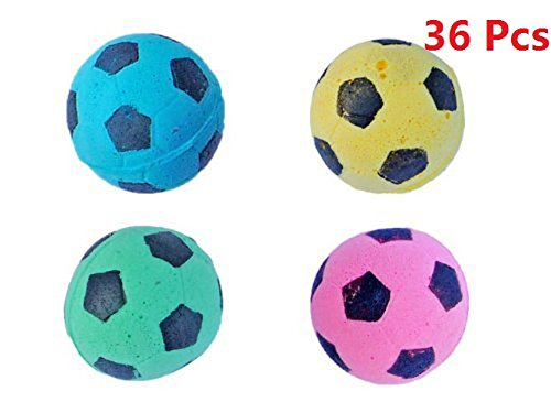 PetFavorites Foam/Sponge Soccer Ball Cat Toy Best Interactive Cat Toys Ever Most Popular Independent Pet Kitten Cat Exrecise Toy balls for Real Cats K