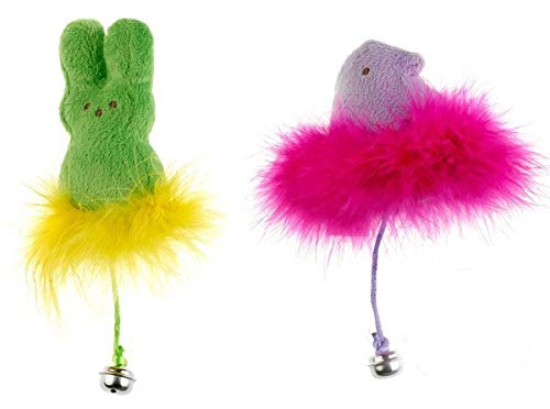 Peeps Feather Bell Cat Toy Set of 4