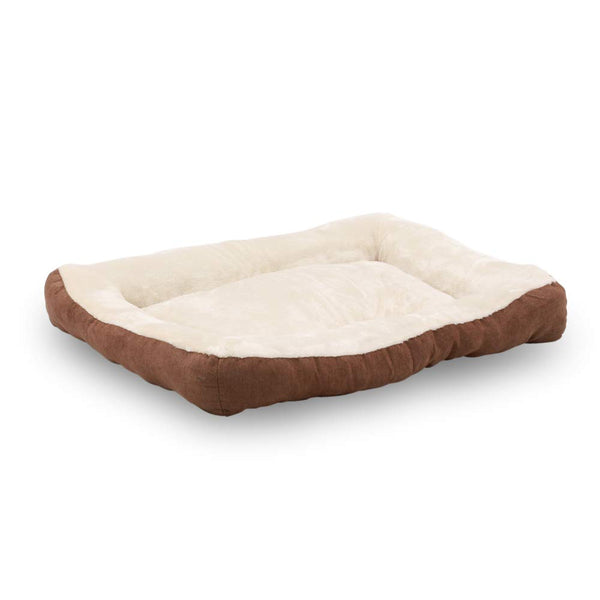Happycare Textiles Rectangle Brown Low Bumper pet Bed