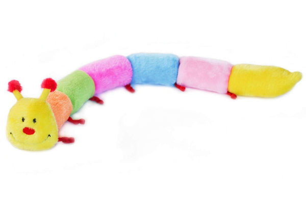 ZippyPaws - Colorful Caterpillar Squeaky Stuffed Plush Dog Toy