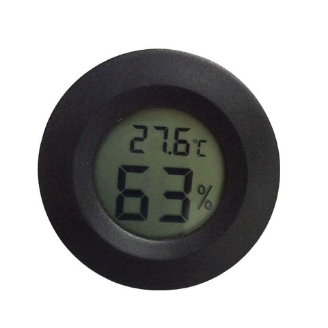 ONLY DEGREE,Humidity Thermometer for Reptiles Gauge Terrarium Reptile Lizard Tank Reptile Centigrade Convertible Fahrenheit (1 PCS)