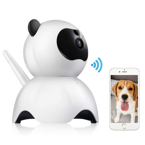 Petacc Pet Camera Night Vision Dog Camera Indoor Cat Camera Wireless IP Camera for Pet Monitor, 2.4GHz, Two-Way Audio, 1080P Video, Motion Detection,
