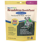 ARK NATURALS Breath-Less Brushless Toothpaste, Dental Chews for Large Dogs, Plaque, Tartar, and Bacteria Control, Chewable, Easy Digestion, Mess Free,