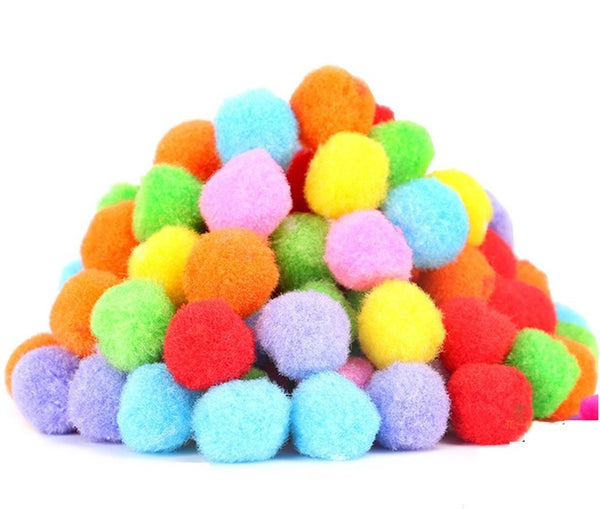 "PET SHOW 1.8"" Soft Cat Toy Balls Kitten Toys Pompon Ball Assorted Color"