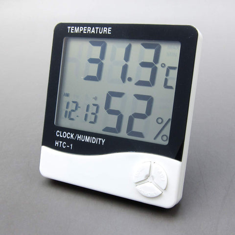 Alfie Pet by Petoga Couture - Porter Digital Thermometer and Hygrometer - Color: White