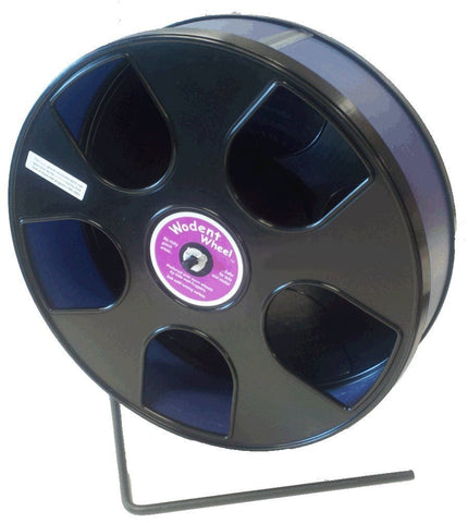 Transoniq Rodent - Semi-Enclosed Exercise Wodent Wheel 'Sr.' 11 inch Size Blue