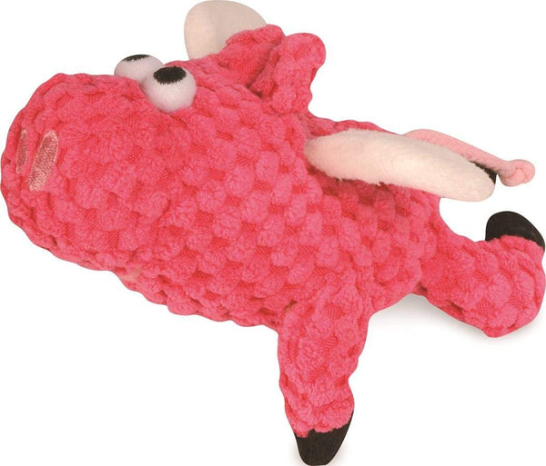 goDog Flying Pigs with Chew Guard Technology Durable Plush Squeaker Dog Toys