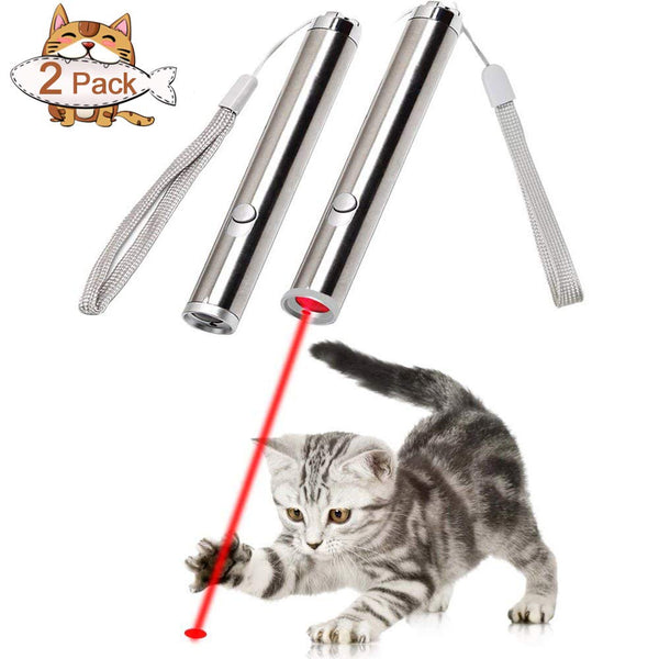 Tacobear 2PCS Pet Cat Toys Catch The LED Light Interactive Focused Light Cats Teaser Wand Toys Cat Training Tool, Powerd by 1 AA Battery