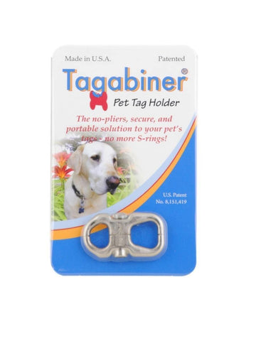 New Inventor Products Tagabiner The Pet Tag Holder, Secure and Portable Solution to Your Pet's Tags