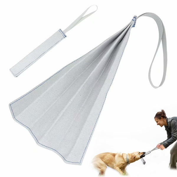 PET ARTIST Small Dog Bite Rag Tug Toys with Handle for Puppies Young Schutzhund Police Dog K9 Training