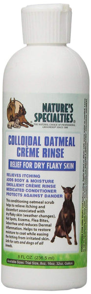Nature's Specialties Oatmeal Crème Rinse Dog Conditioner, 8-Ounce