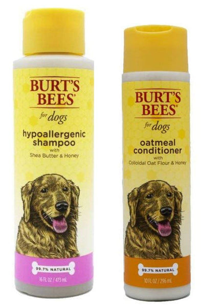 Burt's Bees For Dogs Sensitive Skin Shampoo & Conditioner Bundle: (1) Hypoallergenic Shampoo With Shea Butter & Honey (16 Oz.), and (1) Oatmeal Condit