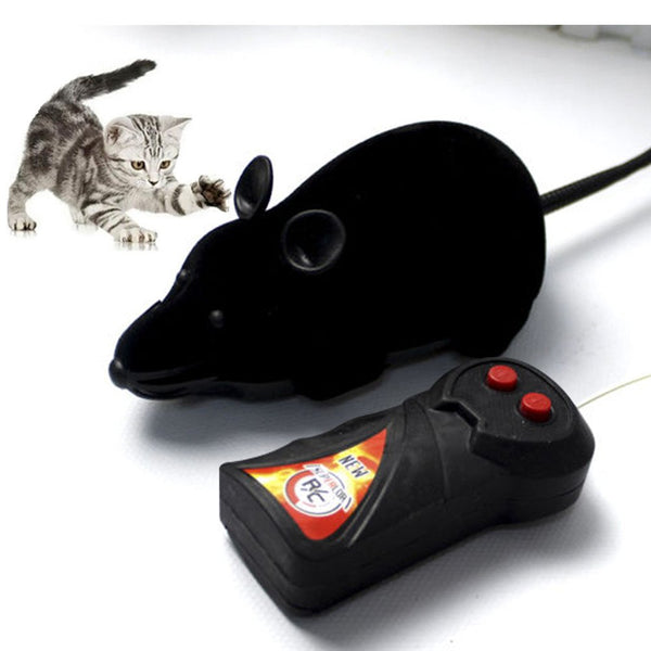 Giveme5 Wireless Remote Control Mock Fake Rat Mouse Mice RC Toy Prank Joke Scary Trick Bugs for Party and For Cat Puppy Funny Toy