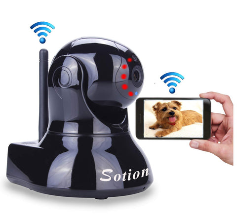 Sotion Video Baby Monitor, HD Wireless Pet Camera with Two Way Audio and Night Vision for Home/Indoor Security, Internet IP Surveillance WiFi Camera S