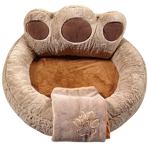 Yesbears Ultra-Soft Memory Foam Dog Bed Microfiber Base (Blanket Included