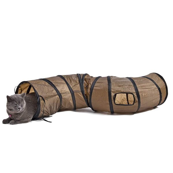 PAWZ Road Cat Toys Collapsible Tunnel for Rabbits, Kittens, Ferrets and Dogs