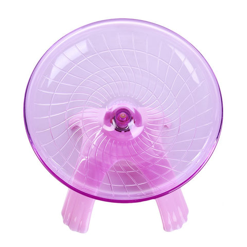 Yunt Hamster Flying Saucer Exercise Wheel Toys Small Animals Running Wheel Toys for Hamster Mouse Rat