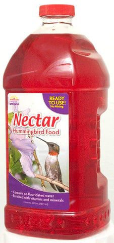 Natural Springs Hummingbird Nectar Ready to Use Food, 64 oz - Pack of 2