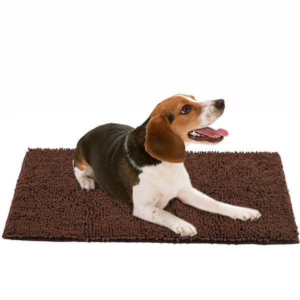 Dog Doormat Pet Mat - Microfiber Super Absorbent Rug for Cleaning Dirty Paws