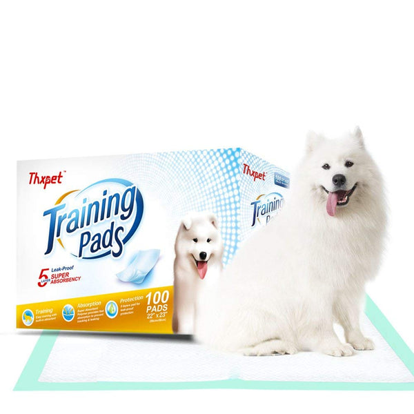 "Thxpet Pet Puppy Training Pads Dog Pee Potty Pad 100 Count 22"" by 23"" Super Absorbent Leak Proof Wee Pad"