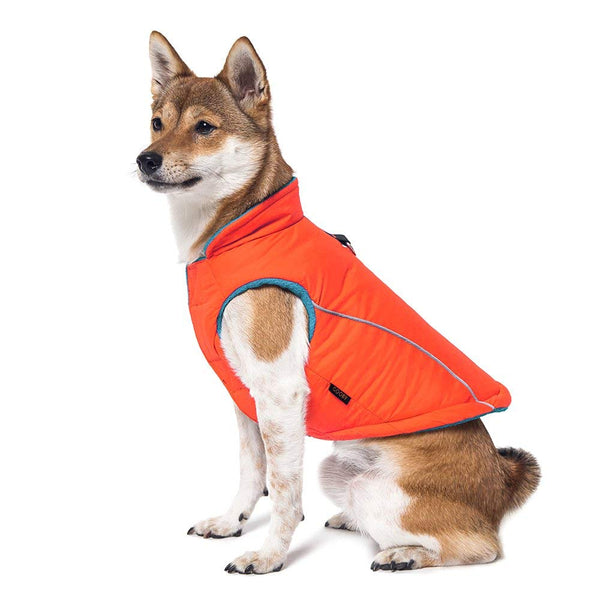 Gooby Cold Weather Fleece Lined Sports Dog Vest with Reflective Lining