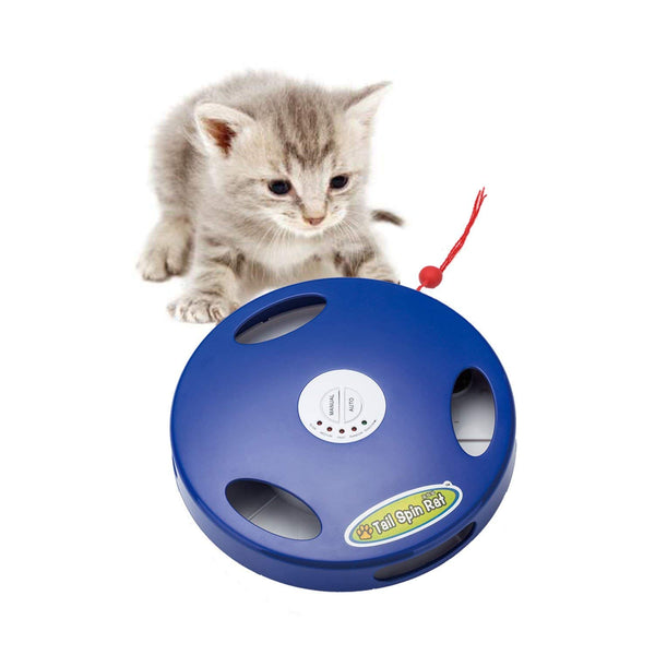 SunnyOn Electric Cat Toy-Excitement for Pet/Kitty/Kitten, Exercise Increase, Stress Relief, 5 Action Modes via Auto & Manual, Mimic Rat Sound/Squeak,