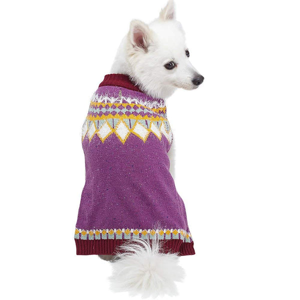 Blueberry Pet Fair Isle or Icelandic Lopi Pullover Dog Sweater
