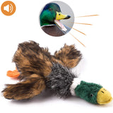 wangstar Pet Mallard Duck Dog Toy, Squeaky Dog Toy, Plush Puppy Dog Chew Toy for Small Medium Dogs