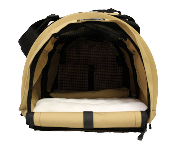 "SturdiBag Divided Large Pet Carrier, Large Divided Pet Carrier 2 in 1 Pet Carrier Tote, Airline,AAA Approved, Size Large 18""L X 12""W X 12""H (Earthy Ta"