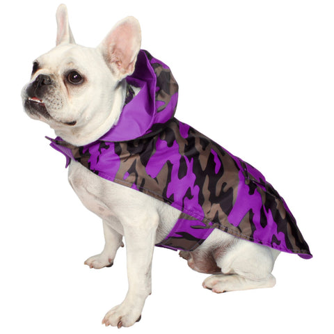 Jelly Wellies Premium Quality Waterproof Reversible Camouflage Raincoat for Dogs